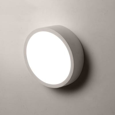 Contemporary Round Led Wall Light 16 Width Black White