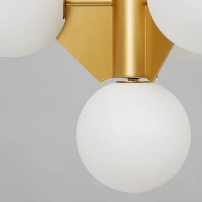 Globe Chandelier 4-Light White