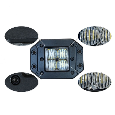 4 Inch LED Work Light 20W 60 Degee Flood Beam For Jeep Hummer, 2 Pcs