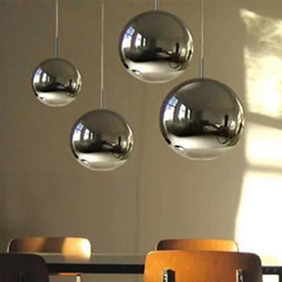 Ball Pendant Light in Chrome Finish