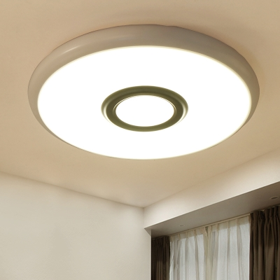 Designer LED Round Base Flush Mount Lighting