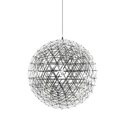 LED Chrome Ball Pendant Light in Stainless Steel, 8'' Width 18 Lights