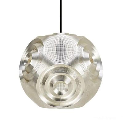 Curved Ball Pendant Light Sliver 15 Inch