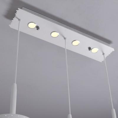 Dots Multi-Light Pendant LED White Acrylic Modern