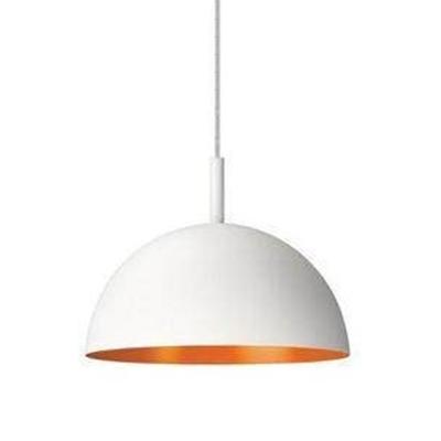 Mini Dome Chrome Blue Orange Pendant Light