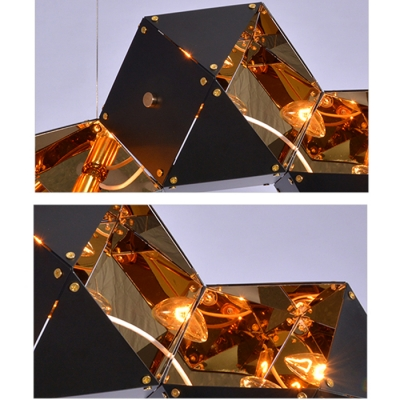 Modern Multi-light Pendant In DNA Shape, 8 Lights