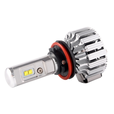 Beautiful ... Nighteye T1 Car LED Light Bulbs H11 35W 4500LM 6000K CREE LED, ...