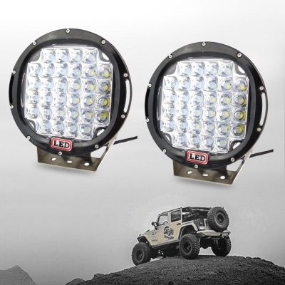 9 Inch Round LED Work Light 96W Cree LED 30 Degee Spot Beam For Off Road 4x4 Jeep Truck ATV SUV Pickup Boat, 2 Pcs
