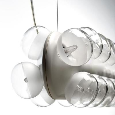 Modern Double Prop Vertical Pendant Light White
