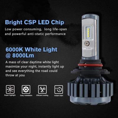 ... Nighteye A373 Car LED Headlight Bulbs 9006 60W 8000LM 6000K CSP LED, ...