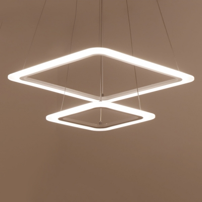Double Square LED Suspension 23.6''