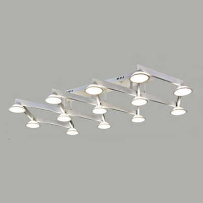 Acrylic Ceiling Lights Contemporary Industrial Black/White, 13 Lights