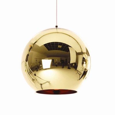 Chrome Ball Pendant Light Copper/Gold/Silver 12