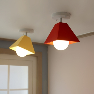 Multi Color LED Ceiling Light Creative Trapezoid Shade