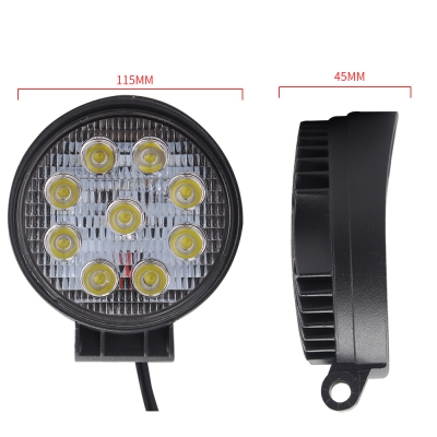 4 Inch Round Led Work Light 27w Cree Flood Beam For Off Road 4x4 Jeep