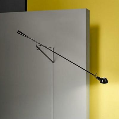 Swing Arm Mini Bowl Wall Light Black/White