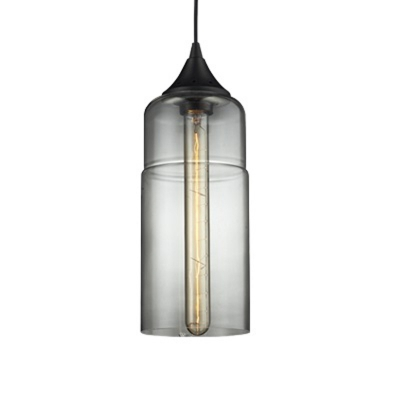 Cylinder Pendant Light Clear Glass