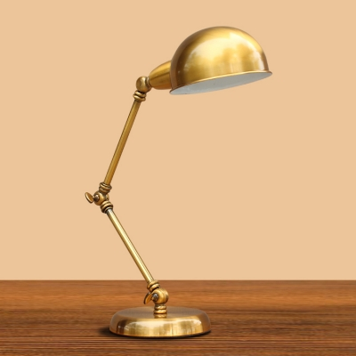 Industrial desk lamp adjustable arm with 6 inch wide gold for 6 inch table lamp