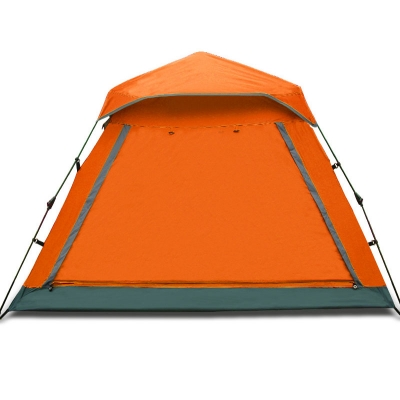 Easy up Lightweight 4-Person Family 3-Season Water Resistant Camping Cabin Dome Tent, Orange, CH444360