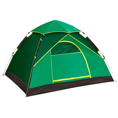 2-Person Instant Quick Pitch Camping Tent 3-Season Dome Tent with Carry Bag, Green, CH444836