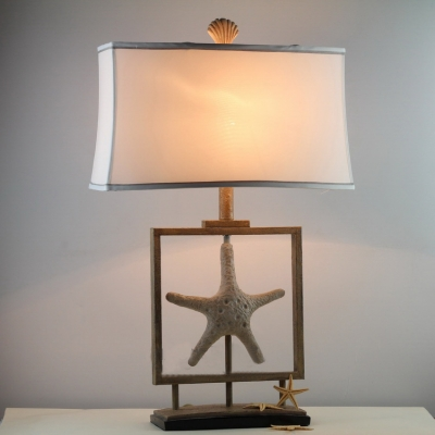Starfish Base Table Lamp with White Shade