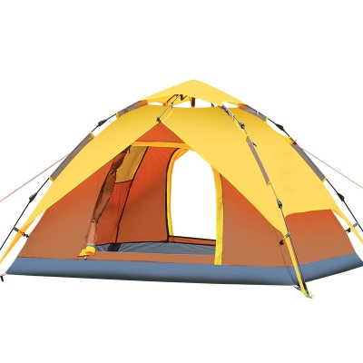 Instant Self Quick Pitch Outdoors 3-Person Camping 3-Season Dome Tent- Orange, CH444335