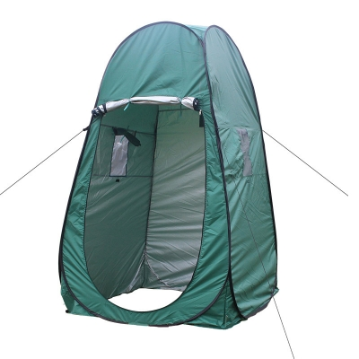 Image of Pop Up Tent Private Shower Tent Green Coating Waterproof, 77 Inches High 1.8kg