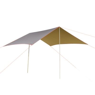 Image of 10-ft x 10-ft Outdoor Tent 5-8 Persons 3 Season Tarp Shelter Waterproof Rip-Stop Tent Khaki