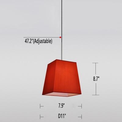 "Image of ""7.9"""" Trapezoid Pendant Light Linen"""