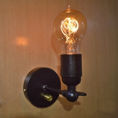 exposed lighting. industrial retro exposed edison bulb style wall sconce light black lighting m