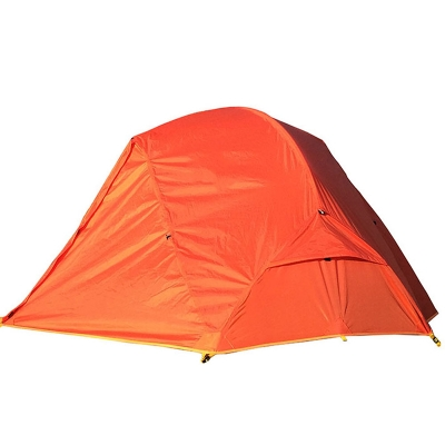 Double Layer Ultralight 2-Person Backpacking Waterproof 4-Season Dome Tent, Orange, CH444224