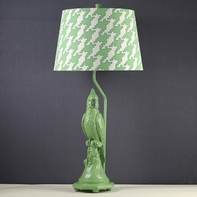 Classic Parrot Base Table Lamp, White/Green