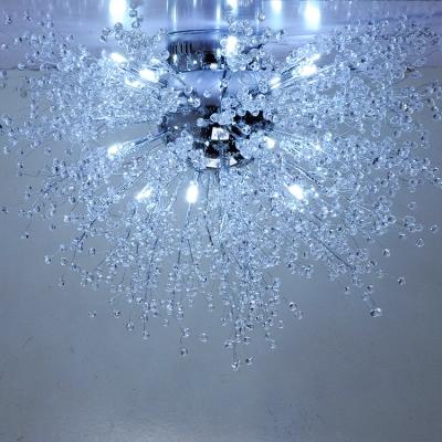 Crystal Beads Branch Flushmount, 27.5 Inch