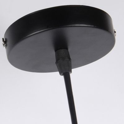Industrial Hanging Lamp Single Light with Bowl Shade in Black or White