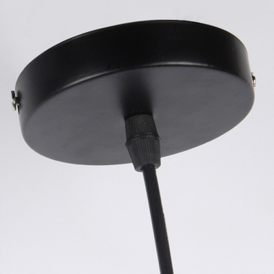 industrial hanging pendant lamp 1 light with octangle shade in black or white