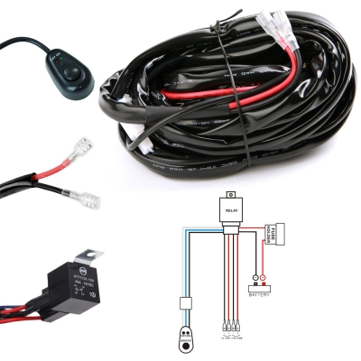 led light bar wiring harness kit 400w 12v 40a fuse relay on offled light bar wiring harness kit 400w 12v 40a fuse relay on off waterproof switch