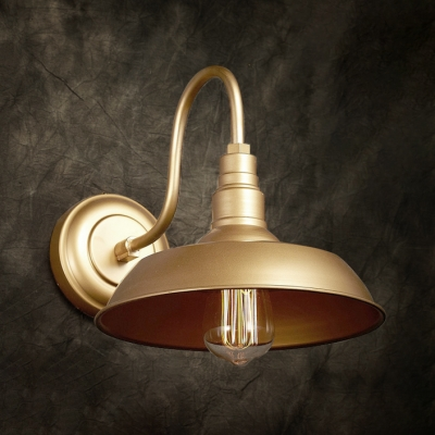 Rich Gold Barn Style Led Wall Sconce