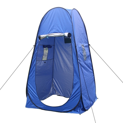 Image of Pop Up Tent Private Shower Tent Blue Coating Waterproof, 77 Inches High 1.8kg