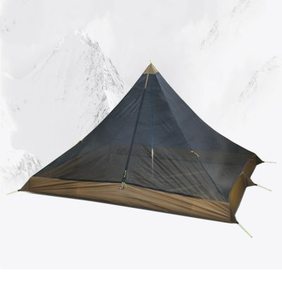 Anti-Mosquito Pyramid Net Bug Shelter 1-2 Persons 3 Season for Travel and Camping, Black, CH444508