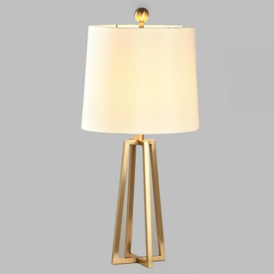 Tripod Table Lamp Compatible Simple Golden Base