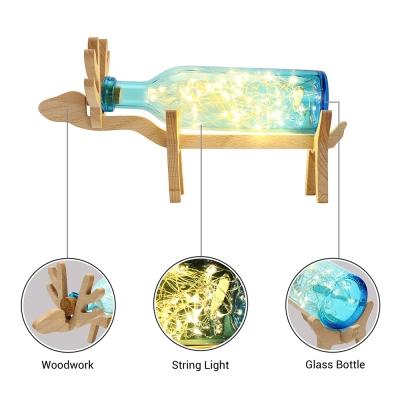 Creative LED Deer Bottle Bedroom Table Lamp