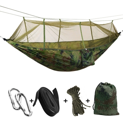 Anti-Mosquito Net Camping Hammock Shelter 1 Person 3 Season Ripstop Waterproof , Camouflage, CH444519