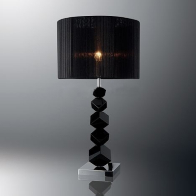 Special Table Lamp with Black Standing Cubes