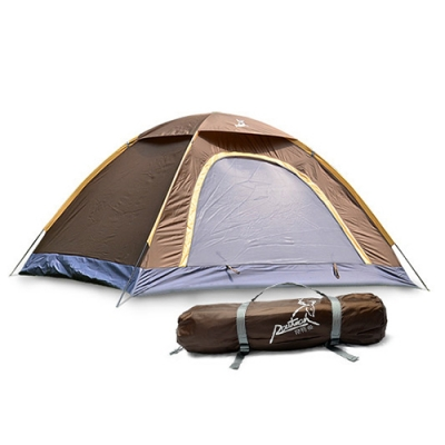 2-Person Camping Moth-Proof 3-Season Backpack Dome Tent (Coffee), CH444088
