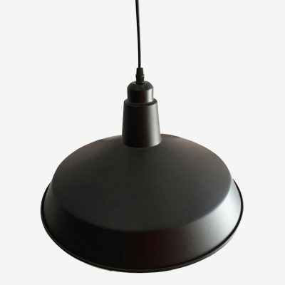 Classic Black 1 Light Warehouse Barn Hanging LED Ceiling Pendant in Vintage Style