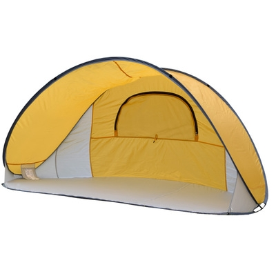 Merveilleux Pop Up Tent 4 Persons 3 Season Sunshade Shelter Portable Beach Tent Yellow  Coating 1.3kg ...