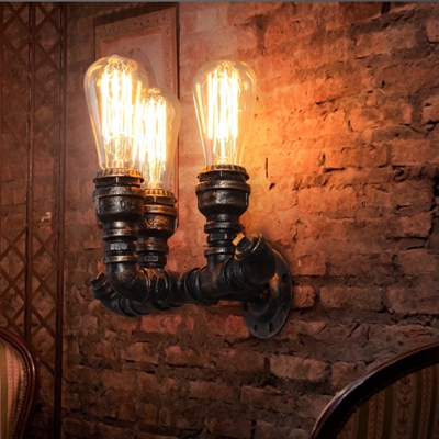 dp edison black industrial lighting cylinder included sconce lovedima wall light indoor bulb