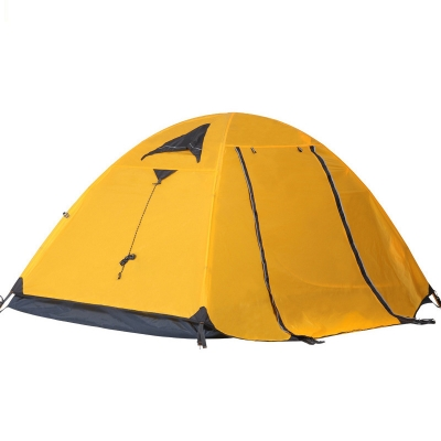 Outdoors Camping Tent Two Person 3-Season Anti-UV Dome Tent with Carry Bag in Yellow, CH444258