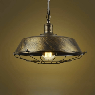 Distressed Bronze 14u0027u0027 W 1 Light Industrial Style Indoor Hanging Ceiling Fixture & Fashion Style Pendant Lights Bronze Industrial Lighting ... azcodes.com