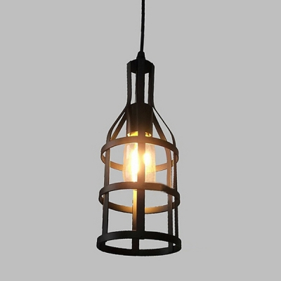 industrial mini pendant light 11 inch in black for barn or indoor